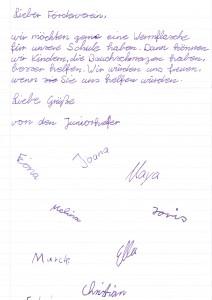 160210 Bitte Juniorhelfer